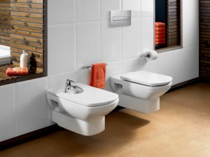 Комплект ROCA DAMA SENSO - структура за вграждане NEW SOLUTION с бутон PL 2, конзолна тоалетна чиния DAMA SENSO с капак