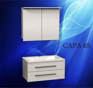 Комплект мебели за баня САРА 65 см. - долен шкаф с мивка и горен шкаф с огледало и осветление