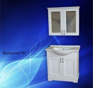 Комплект мебели за баня ВАЛЕНСИЯ 80 см. - долен шкаф с мивка и горен шкаф с огледало