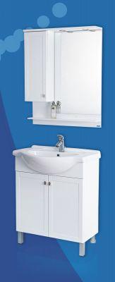Комплект мебели за баня ДЪБЛИН - долен шкаф с мивка и горен шкаф с огледало и осветление, различни размери
