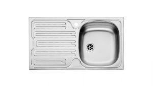 FRANKE CIN 611, кухненска мивка от неръждаема стомана, различен финиш, за над плот