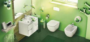 WC Комплект за вграждане Ideal Standart - колекция TESI Aqua Blade, WC структура сбутон и висяща тоалетна чиния със седалка
