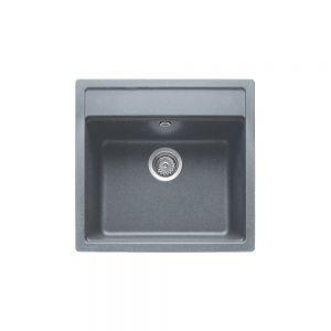 Кухненска мивка от синтетичен гранит ТЕКА MENORCA 50 S-TG,черен металик
