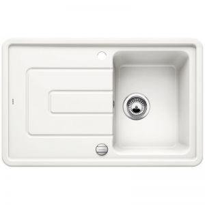 BLANCO TOLON 45 S Кухненска мивка керамика кристално бял гланц с автоматичен сифон