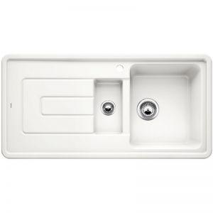 BLANCO TOLON 6 S Кухненска мивка керамика кристално бял гланц