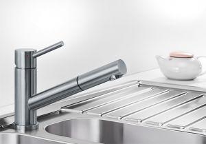 BLANCO ALTURA S батерия за кухня от стомана с обработка с изтеглящ се душ