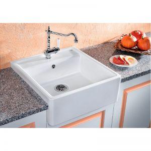 BLANCO PANOR 6 Кухненска мивка от керамика кристално бял гланц с автоматичен сифон
