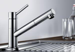 BLANCO KANO-S  хром Смесителна батерия за кухня с изтеглящ се душ