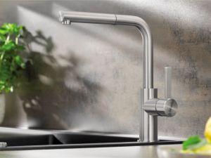 BLANCO LANORA S /INOX/  Смесителна батерия за кухня  с изтеглящ се душ от обработена стомана