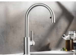BLANCO CANDOR  S /INOX/ Смесителна батерия за кухня от стомана с изтеглящ се душ