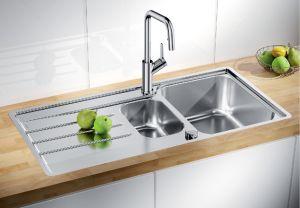 BLANCO LEMIS  6 S- IF  Кухненска мивка от инокс с автоматичен сифон