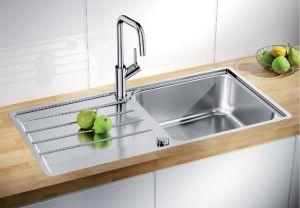 BLANCO LEMIS XL  6 S- IF  Кухненска мивка от инокс с автоматичен сифон