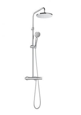 ROCA EVEN-T термостатна душ колона с кръгла пита ROUND и подвижен душ STELLA с 3 функции