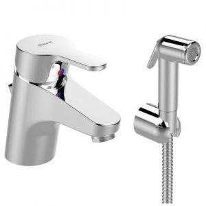 Смесител стоящ за мивка ВИДИМА Seva Next, с изпразнител и хигиенен душ, B0466AA