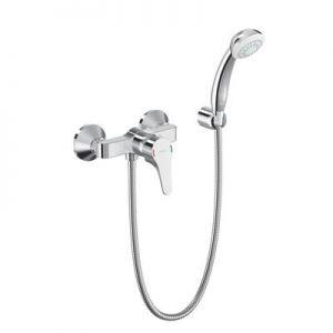 Смесител стенен за душ ВИДИМА Seva Next, с ръчен душ 70 мм, държач  и шлаух, B1924AA
