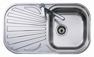 Кухненска мивка от инокс ТЕКА STYLO 83 1C 1Е, гладка