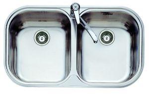 Кухненска мивка от инокс ТЕКА STYLO 2C, микролен