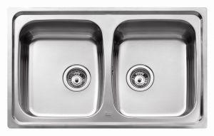ТЕКА  Universo 79 2С- микролен Кухненска мивка от инокс