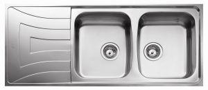 Кухненска мивка от инокс  ТЕКА  Universo 116 2С 1Е, микролен
