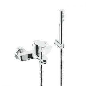 GROHE Eurosmart Cosmopolitan, комплект смесител за вана/душ с душ гарнитура Euphoria Cosmopolitan със стенен държач
