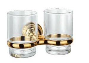 NOVARA PLUS Двойна поставка с чаши БЕЛЛА злато или хром