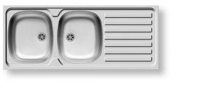 Кухненски мивки от инокс PYRAMIS INTERNATIONAL (120X50) 2B 1D
