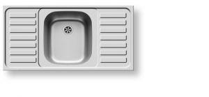 Кухненски мивки от инокс PYRAMIS INTERNATIONAL (100X50) 1B 2D