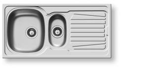 Кухненски мивки от инокс PYRAMIS SPARTA (100X50) 1 1/2Β 1D
