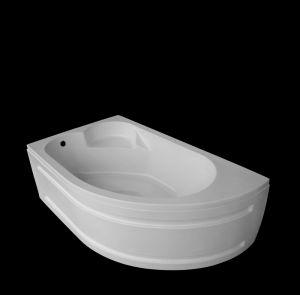 Акрилна вана ONYX, асиметрична, ъглова, 160x90 см.