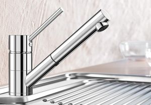 BLANCOANTAS-S  хром Смесителна батерия за кухня с изтеглящ се душ