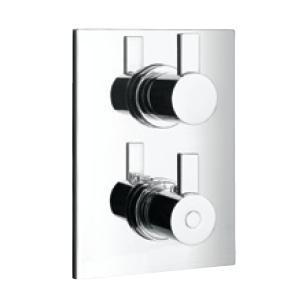 ПИКАСО термостатна смесителна батерия за вграждане за вана и душ, петпътна, с превключвател