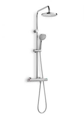 Термостатна душ колона ROCA VICTORIA за душ, с кръгла пита ф 200мм и подвижен душ