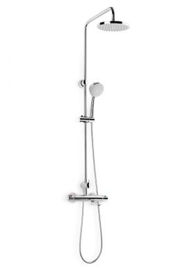 Термостатна душ колона ROCA VICTORIA с чучур, кръгла пита ф 200мм и подвижен душ