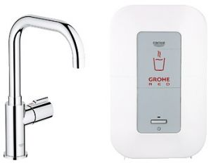 GROHE Red ® - Кухненски смесител GROHE Red Mono с U-чучур и бойлер GROHE Red 4l