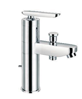 ОЛИМПИЯ  смесителна батерия за мивка-стоящ с превключвател за подвижен душ
