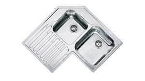 FRANKE Angolo STX 621 - E, кухненска мивка от неръждаема стомана, различен финиш, за над плот