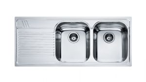 FRANKE Armonia AMX 621, кухненска мивка от неръждаема стомана, различен финиш, за над плот
