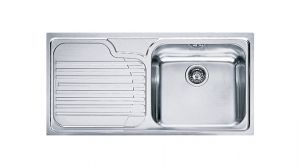 FRANKE Galasia GAX 611, кухненска мивка от неръждаема стомана, различен финиш, за над плот