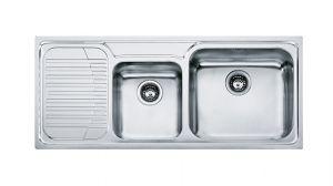 FRANKE Galasia GAX 621, кухненска мивка от неръждаема стомана, различен финиш, за над плот