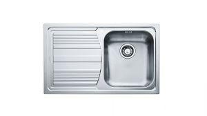 FRANKE Linea LLX 611, кухненска мивка от неръждаема стомана, различен финиш, за над плот