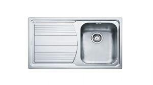 FRANKE Linea LLX 611-L, кухненска мивка от неръждаема стомана, различен финиш, за над плот