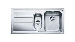 FRANKE Linea LLX 651, кухненска мивка от неръждаема стомана, различен финиш, за над плот