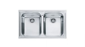 FRANKE Linea LLX 620, кухненска мивка от неръждаема стомана, различен финиш, за над плот