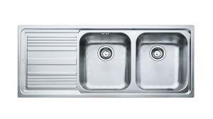 FRANKE Linea LLX 621, кухненска мивка от неръждаема стомана, различен финиш, за над плот