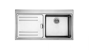 FRANKE Mytos MTX 614 Inox, кухненска мивка от неръждаема стомана, за над плот