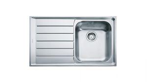 FRANKE Neptune NEX 611, кухненска мивка от неръждаема стомана, различен финиш, за над плот