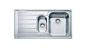 FRANKE Neptune NEX 651, кухненска мивка от неръждаема стомана, различен финиш, за над плот