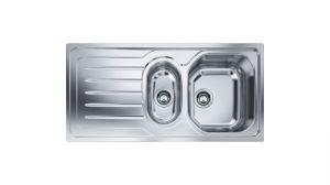 FRANKE Onda OLX 651, кухненска мивка от неръждаема стомана, различен финиш, за над плот