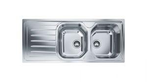 FRANKE Onda OLX 621, кухненска мивка от неръждаема стомана, различен финиш, за над плот