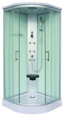 Хидромасажна душ кабина RUMBA ST-CL88 QUICK LINE, 90х90х215 см - затворена, бърз монтаж